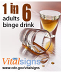 1 in 6 adults binge drink