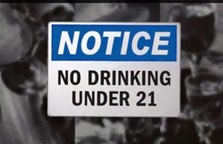 notice no drinking under 21