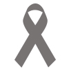 icon of awareness ribbon in gray
