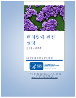 Thumbnail image of cover for 'Guide to Understanding Anthrax' in Korean: 탄저병에 관한 설명