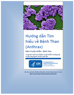 Thumbnail image of cover for 'Guide to Understanding Anthrax' in Vietnamese: Hướng dẫn Tìm hiểu về Bệnh Than (Anthrax)