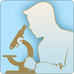 illustration of scientist looking in a microscope