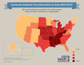 Antibiotic Prescribing Rates by State Across the U.S. - 300px