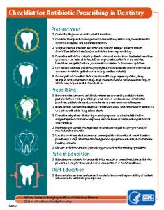 Checklist for Antibiotic Prescribing in Dentistry factsheet thumbnail