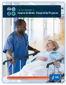 Graphic: Cover of The Core Elements of Hospital Antibiotic Stewardship Programs report produced by CDC.