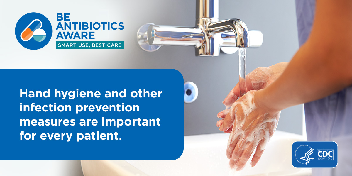 Social media post - Hand hygiene and other infection prevention measure are important.