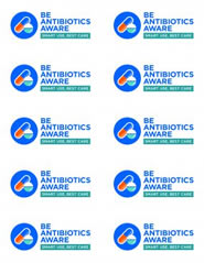Be Antibiotic Aware Smart Use, Best Care. stickers