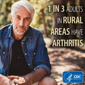 1 in 3 adults in rural areas have arthritis.