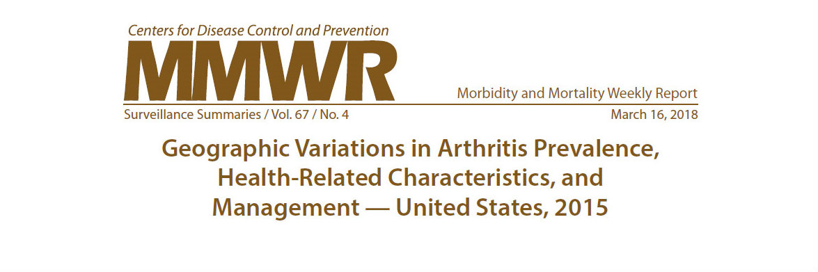 Image of Morbidity and Mortality Weekly Report (MMWR) Surveillance Summary: Geographic Variations in Arthritis Prevalence, Health-Related Characteristics, and Management – United States, 2015