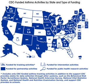 Asthma Control Program Activities Map