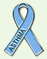 Asthma blue ribbion logo