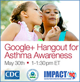 Google = Hangout for Asthma Awareness lolo