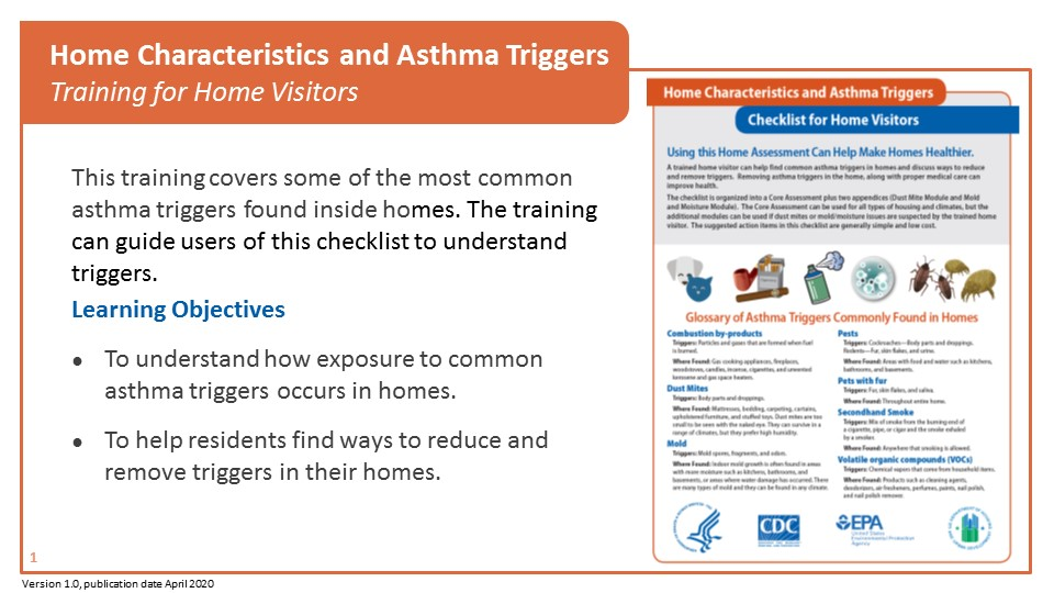 Home Characteristics and Asthma Triggers - Training for Home Visitors
