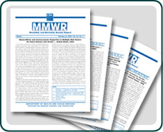 Several MMWR covers.