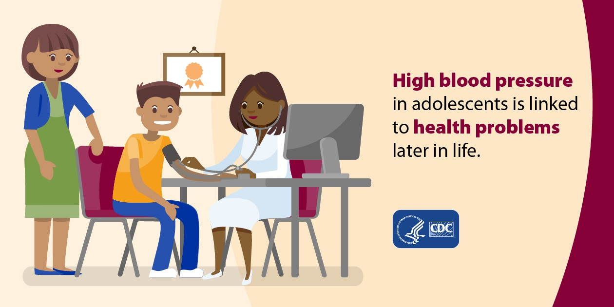 High blood pressure in adolescents is linked to health problems later in life.