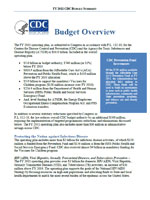 FY 2011 Operating Plan Summary
