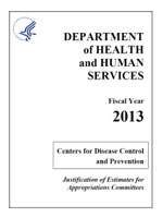 FY 2013 CDC Congressional Justification