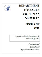 Fiscal Year 2018 Agency for Toxic Substances and Disease Registry