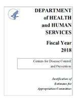 Fiscal Year 2018 CDC Congressional Justification