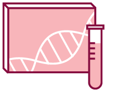 Image of a box with genetic information and a test tube.