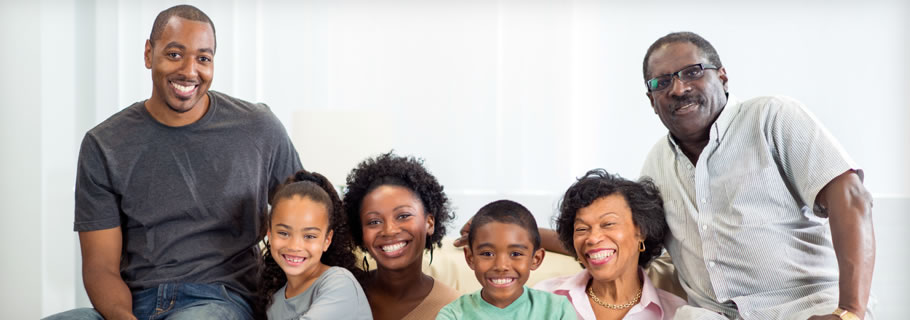 Photo of an African American Family
