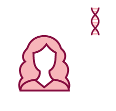 Image of a woman and a DNA gene.