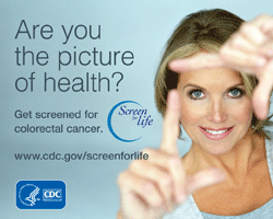 Colorectal cancer screening shareable graphic