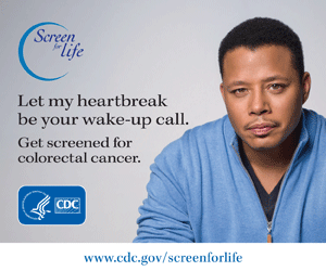 Let my heartbreak be your wake-up call. Get screened for colorectal cancer.
