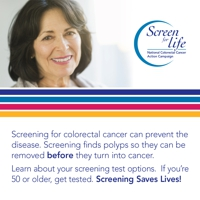 Screening for colorectal cancer can prevent the disease. Screening finds polyps so they can be removed before they turn into cancer. Learn about your screening test options. If you're 50 or older, get tested. Screening saves lives!
