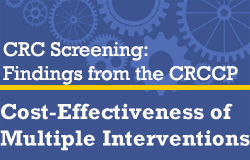 CRC Screening: Findings from the CRCCP: Cost-Effectiveness of Multiple Interventions