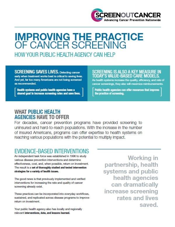 Improving the Practice of Cancer Screening: How Your Public Health Agency Can Help
