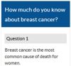 Breast cancer quiz