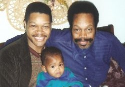 Photo of Demetrius Parker with his father and his son