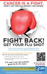 Cancer Is a Fight. Don't Let the Flu Knock You Down poster