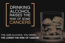 Cancer and alcohol infographic