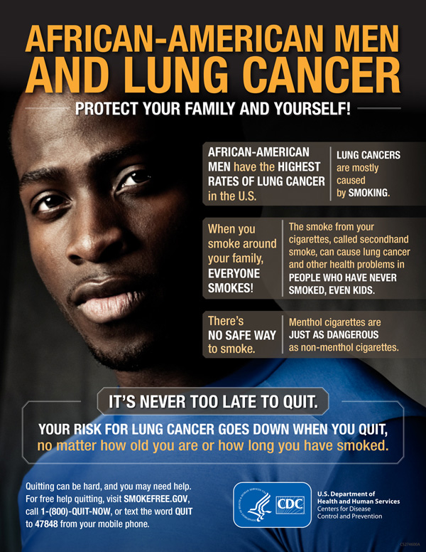 African-American Men and Lung Cancer infographic