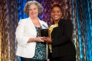 Photo of Dr. Jane E. Korn with Nikki Hayes
