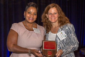 Photo of Dr. Ann Partridge with Nikki Hayes