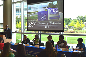 Leadership from CDC's Division of Cancer Prevention and Control host a panel discussion.