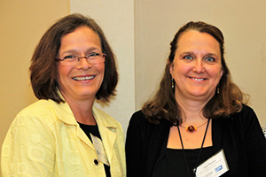 CDC staff members Dr. Corinne Graffunder and Judy Hannan