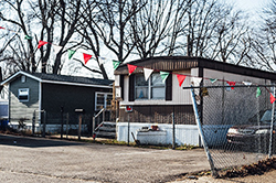Photo of a trailer park in Camden, New Jersey.