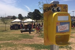 Photo of a sunscreen dispenser in El Paso, Texas