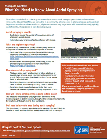 Mosquito Control: What You Need to Know About Aerial Spraying fact sheet thumbnail