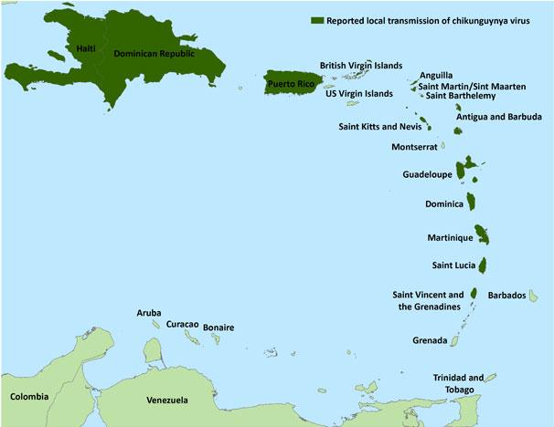 Http Www Cdc Gov Chikungunya Images Maps Chik Caribbean Map 060214 Jpg