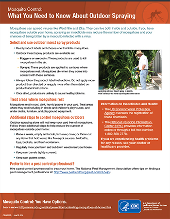 Mosquito Control: What You Need to Know About Outdoor Spraying fact sheet thumbnail