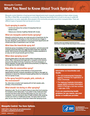 Mosquito Control: What You Need to Know About Truck-Mounted Spraying factsheet thumbnail