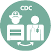 CDC works with first responders icon
