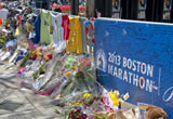A memorial for the victims of the Boston Marathon.