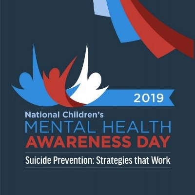 2019 National Children's Mental Health Awareness Day - Suicide Prevention: Strategies that Work promo logo