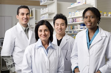 A group of four pharmacists.